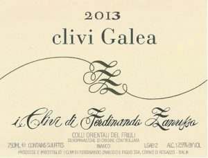 I Clivi 2013 Galea Bianco front label